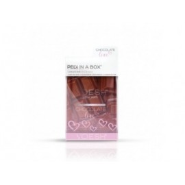 VOESH Chocolate Love Pedi In A Box Deluxe- Zestaw do pedicure SPA 4 kroki zekstraktem z ekstraktem nasion kakaowca
